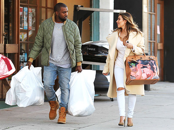 Kim Kardashian Gets a Very Peculiar Handbag from Kanye West for Christmas