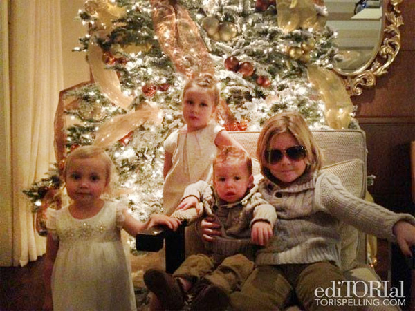 Tori Spelling Blogs About Happy Family Time Despite Cheating Report