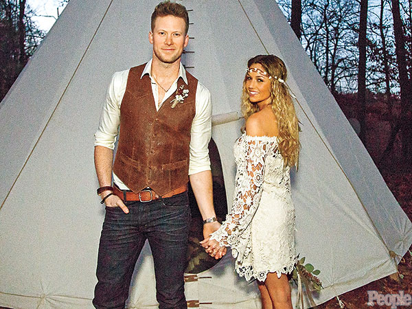 Brian Kelley and Brittney Marie Cole's Whimsical Wedding Photo