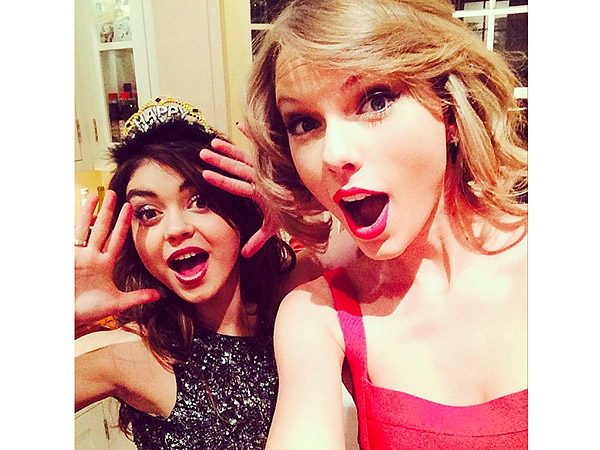 Taylor Swift, Sarah Hyland Ring In 2014 Together