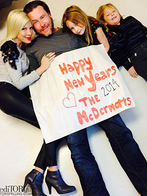 Tori Spelling Shares New Year's Family Photo with Dean McDermott Amid Cheating Rumors