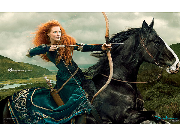 Jessica Chastain As Disney's Merida from 'Brave'