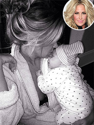 Kim Zolciak Snuggles One of Her Newborn Twins in Serene Instagram Pic