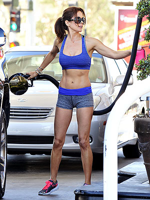 Brooke Burke-Charvet Flaunts Pumped-Up Figure