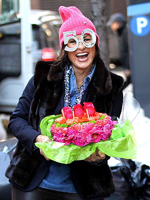 Mariska Hargitay Celebrates 50th Birthday on Set in N.Y.C.