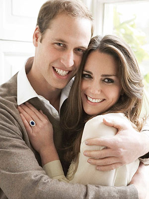 Will & Kate's Natural Hug Captured by Mario Testino for Engagement Portrait