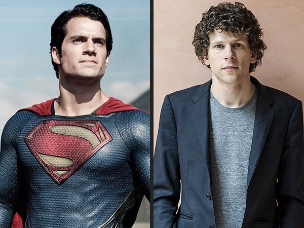 Jesse Eisenberg to Play Lex Luthor in Batman-Superman Man of Steel Sequel