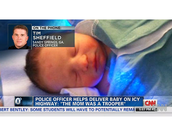Atlanta Snow Storm: Baby Born on Gridlocked Highway