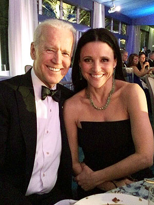 Veep's Vote: Joe Biden and Julia Louis-Dreyfus Share Pic at State Dinner