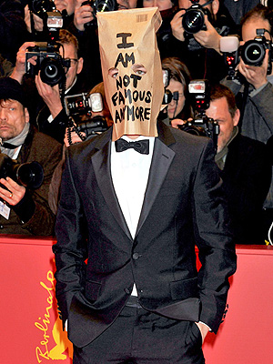 Shia LaBeouf Leaves Press Conference; Wears Paper Bag to Premiere