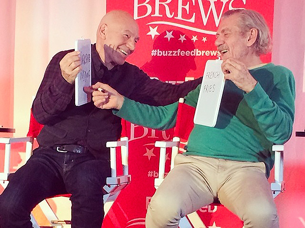Patrick Stewart and Ian McKellen Discuss Bromance, Careers at BuzzFeed Brews