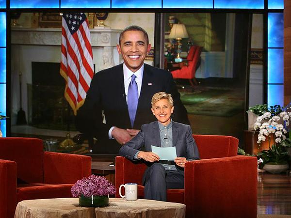 President Obama Talks to Ellen DeGeneres About Oscars Selfie, House of Cards