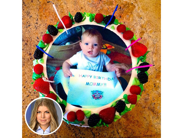 Fergie's Birthday Surprise? Cakes with Pics of Son – and  Shirtless Josh Duhamel!