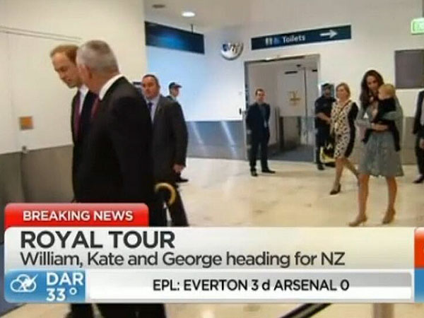 Will, Kate and George Travel to New Zealand