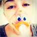Miley Cyrus Wears Duck-Face Oxygen Mask, Pos