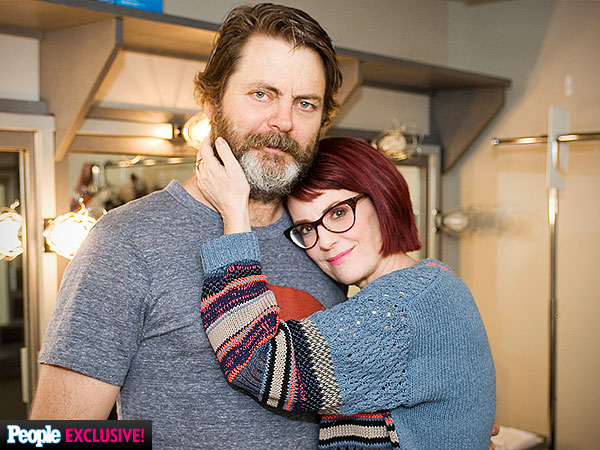 Megan Mullally, Nick Offerman on Parks and Recreation, Working Together