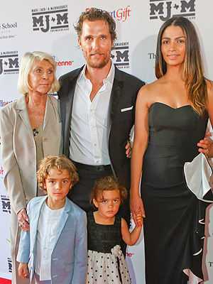 Matthew McConaughey Returns Home to Austin with His Family