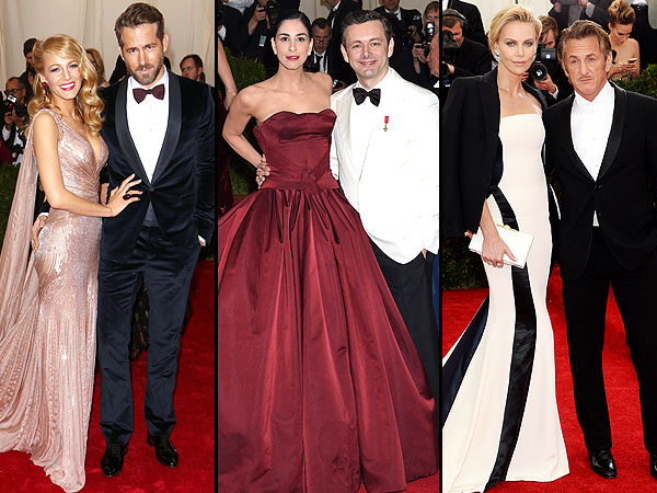 Met Gala 2014: Charlize Theron & Sean Penn, Blake Lively & Ryan Reynolds Attend