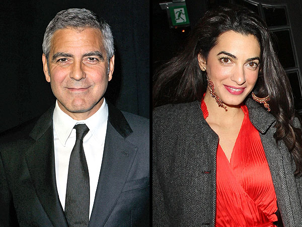 George Clooney & Amal Alamuddin Enjoy Dinner in Venice