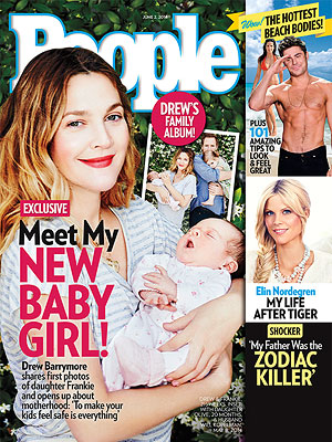 From the PEOPLE Archive: Drew Barrymore Introduces Daughter Frankie