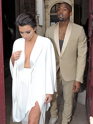 Kim Kardashian and Kanye West Flash His-and-Hers Cleavage at Rehearsal Dinner