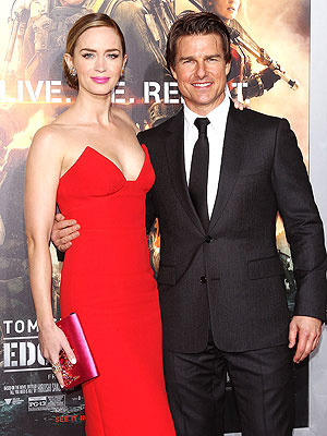 Tom Cruise & Emily Blunt Wide Awake After 24-Hour, Transcontinental Premiere Marathon