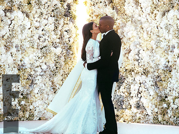 See Kim Kardashian and Kanye West's First Kiss as a Married Couple