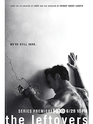 Justin Theroux Shirtless, Punching Wall in The Leftovers Poster