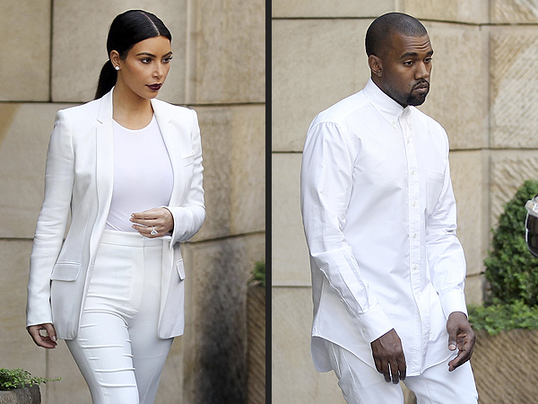 Kim Kardashian & Kanye West Attend His Stylist's Wedding in Prague