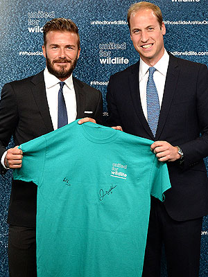 Prince William Names David Beckham as Ambassador of United for Wildlife