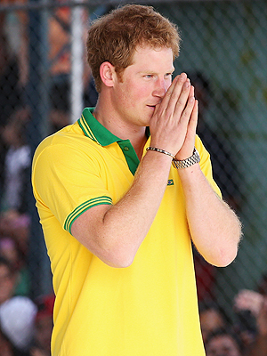 Prince Harry Fixes TV in Chile for World Cup