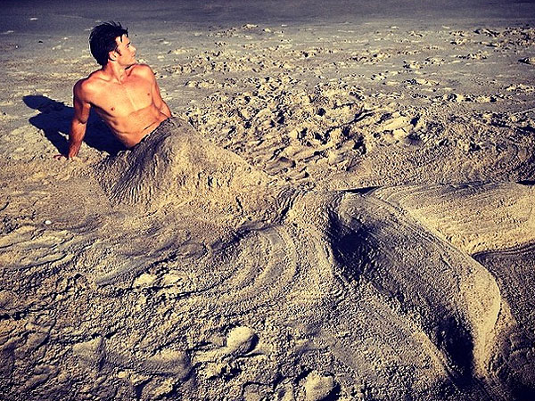 Scott Eastwood Merman Photo on Instagram