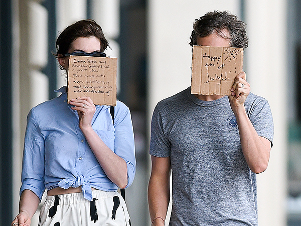 Anne Hathaway, Adam Shulman Copy Emma Stone, Andrew Garfield with Paparazzi