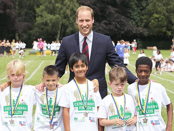 Prince William Jokes That George Will Outrun Him 'Very Soon'