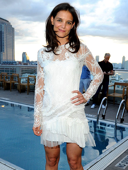 Katie Holmes on Being a Mother, Raising Suri : People.com Katie Holmes