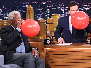 Hear Morgan Freeman's Voice When He Sucks on a Helium Balloon
