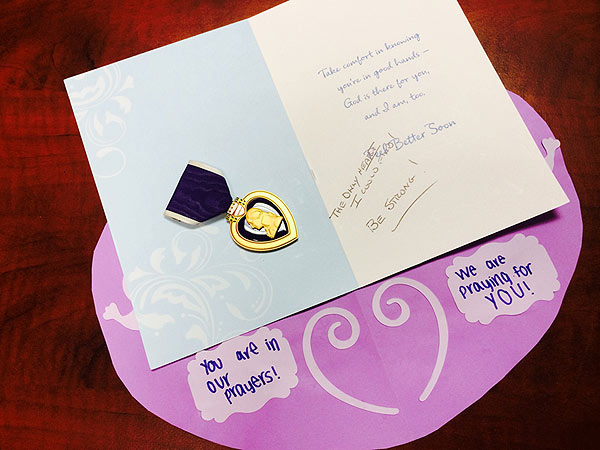 Slender Man Survivor Receives Purple Heart from Anonymous Donor