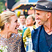 Piper Perabo Wears a Most Unique Gown in Vibrant Wedding P