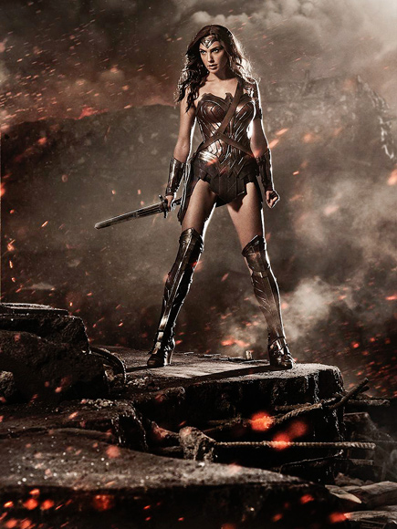 Gal Gadot as Wonder Woman in Batman v Superman: Dawn of Justic (Photo)