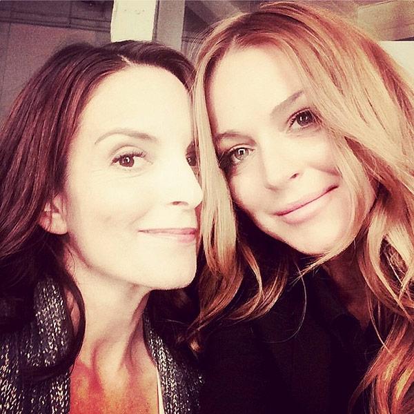 It's Mini Mean Girls Reunion! Tina Fey and Lindsay Lohan Take a Selfie