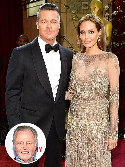 Jon Voight on Angelina Jolie-Brad Pitt Wedding: 'I'm Very Happy'