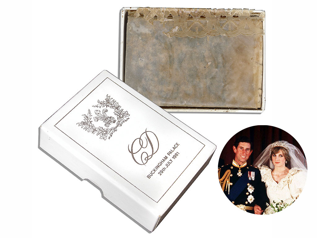 Charles and Diana's Wedding Cake Slice Sold at Auction