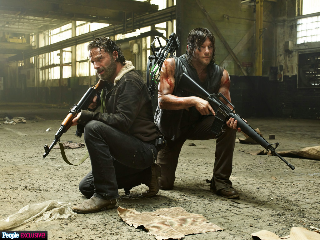Andrew Lincoln and Norman Reedus Are Ready for Battle in New The Walking Dead Photo