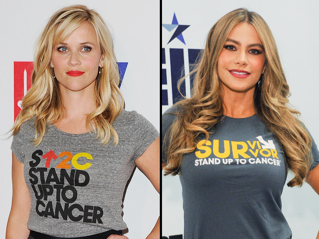 Reese Witherspoon Jokes About Sofia Vergara's Earrings at Stand Up to Cancer