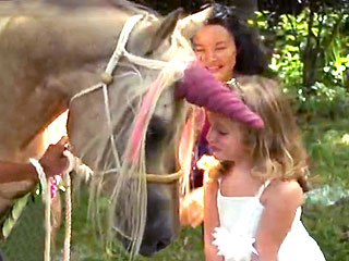VIDEO: Make-A-Wish Makes Girl's Dream of Meeting a Pink Unicorn Come True