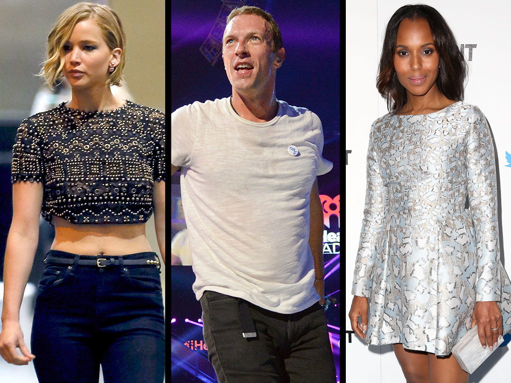 Jennifer Lawrence Supports Chris Martin, Kerry Washington Gives a Baby Update & More Weekend News