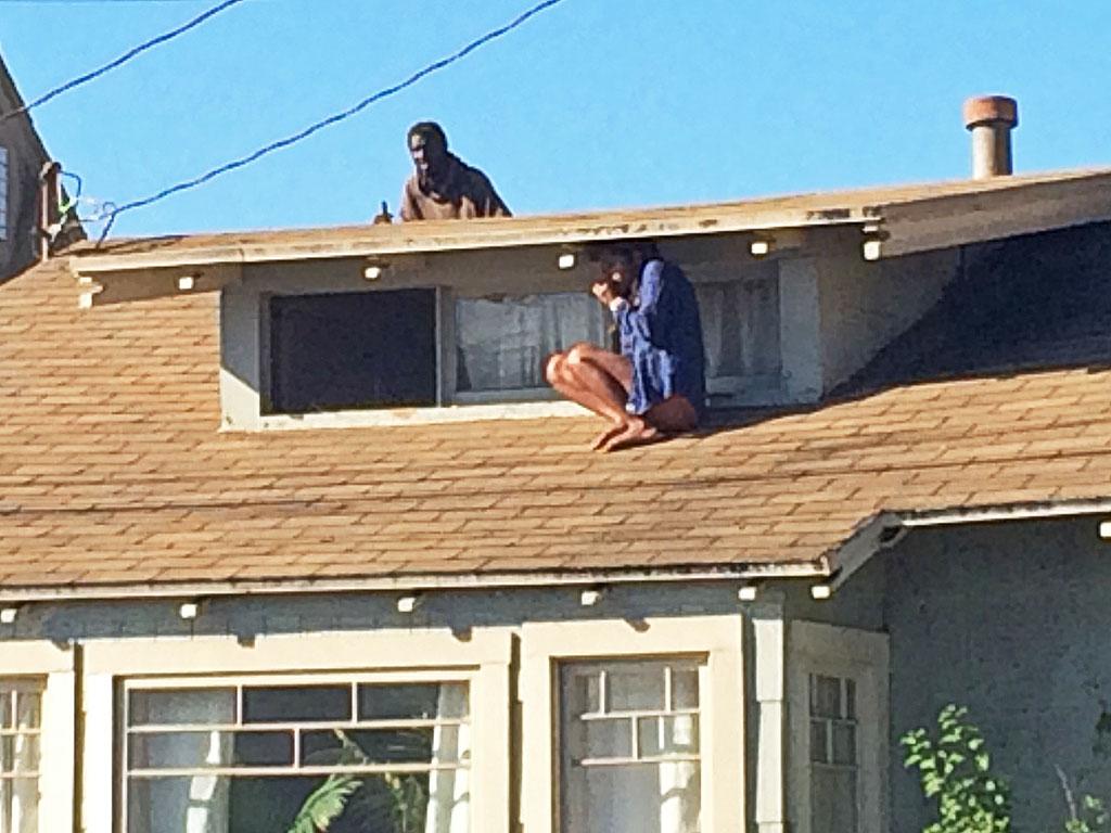 Melora Rivera Climbs Roof to Escape a Home Intruder
