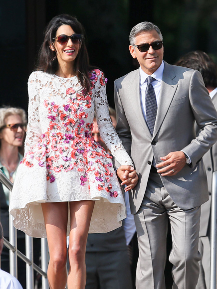 George Clooney Wedding: Actor and Amal Alamuddin Step Out in Venice (PHOTO)