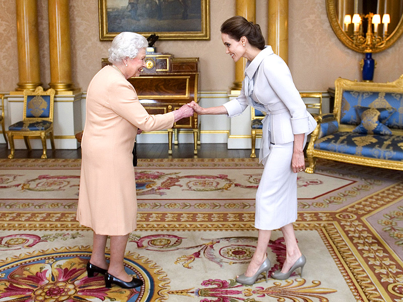 Angelina Jolie Receives Her 'Honorary Dame' Award from Queen Elizabeth