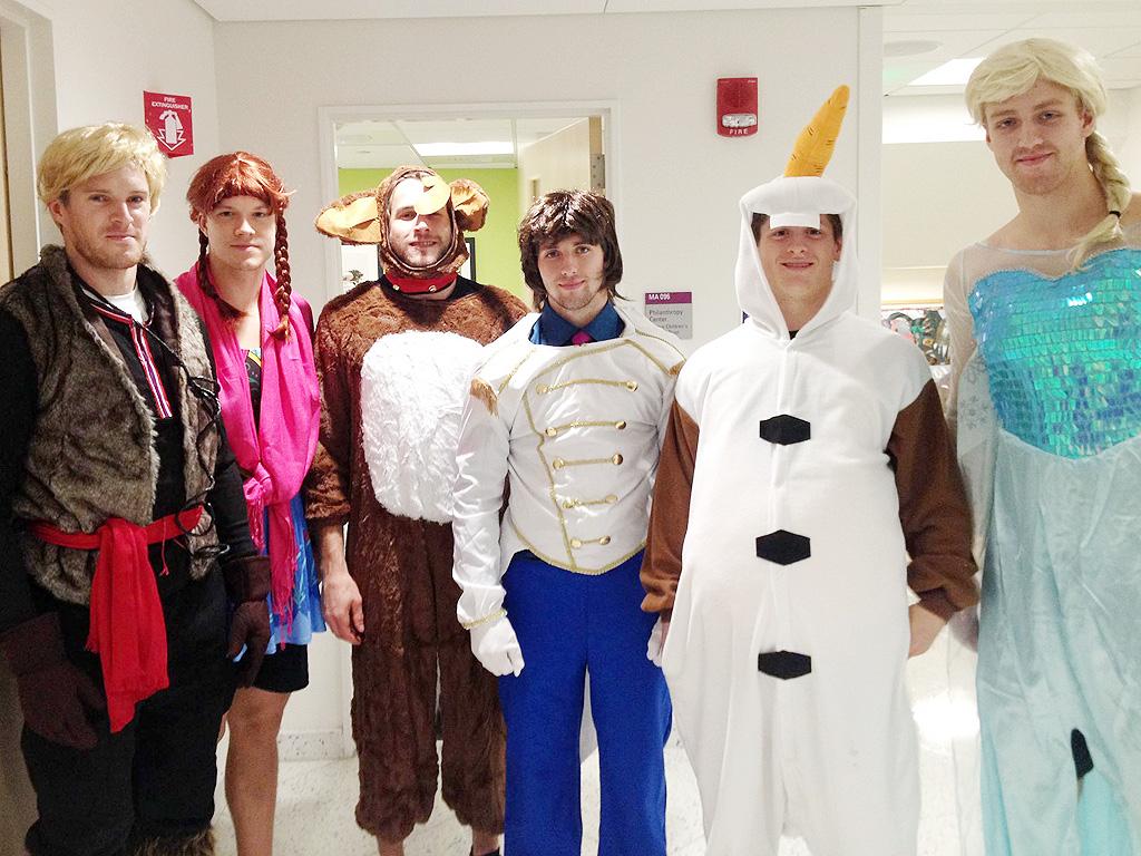 Boston Bruins Dress as Frozen